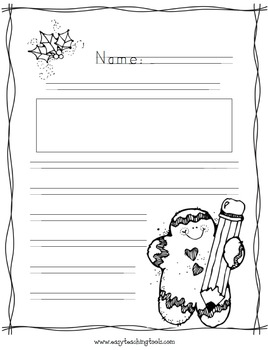 "Handwriting without Tears ""Gingerbread Man"" paper {FREEBIE}"