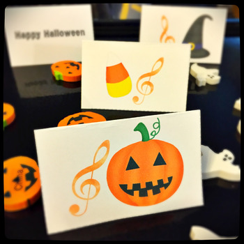 99 Cents Happy Halloween Card with Bonus music flash cards