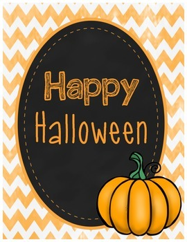 {Freebie} - Happy Halloween Sign (for school or home)