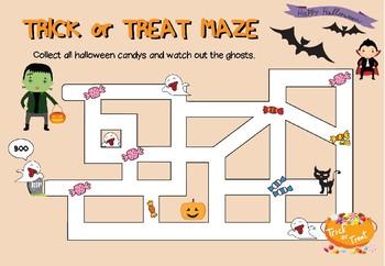 Freebie! Halloween Games - Trick or Treat Maze