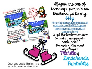 Freebie!  Happy New Year from Lendahand's Printables=)