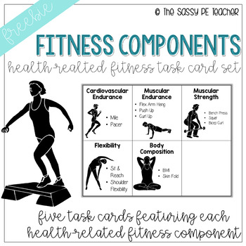 Freebie! Health-Related Fitness Component Task Card Set
