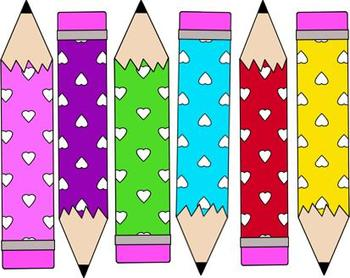Freebie! Heart Pencils Clip Art  ~CU OK!