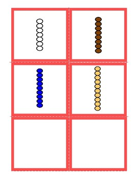 Freebie:   Hearts Number Cards 1-10 and  Matching Montessori Bead bars 1-10