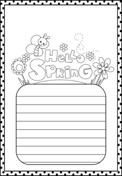 Freebie : Hello Spring : Writing Paper