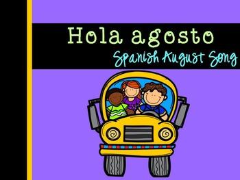 **Freebie** Hola agosto Spanish August Song {Canción en español}