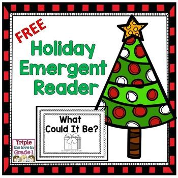 Freebie - Holiday Emergent Reader
