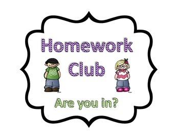 *Freebie* Homework Club - Back to School