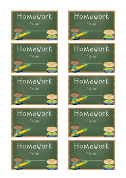 Freebie!! Homework and Home/School Communication Folder Labels!