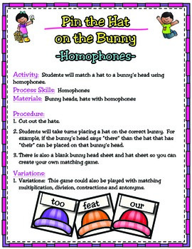 Freebie - Homophones/Contractions/Rhyming