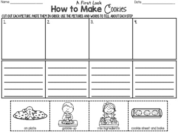 Freebie How To Writing ~ How to Make Cookies ~ Step by Step Process