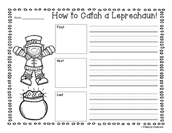 Freebie: How to Catch a Leprachaun Writing Activity