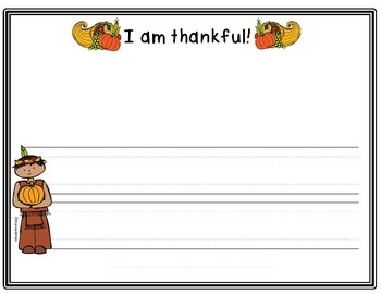 Freebie: I am Thankful Quick Write