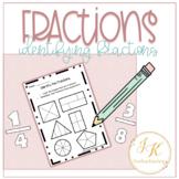 Freebie: Identifying Basic Fractions Introduction Workshee