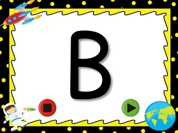 Freebie - Identifying Uppercase Letters Flash Card Powerpoint