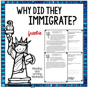 Freebie Immigration Reading Passages