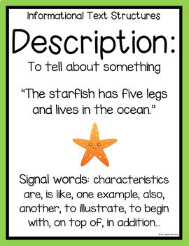 Freebie: Informational Text Structures Posters | Informational Text Structures