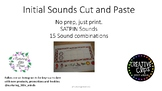 Freebie Initial Sounds Cut and Paste