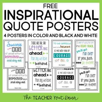 Freebie: Inspirational Quote Posters