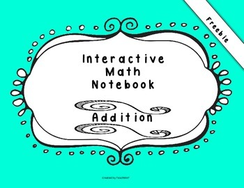 Freebie Interactive Math Notebook~ First Grade