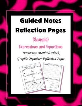 (Freebie) Interactive Math Notebook {Reflection}:  Expressions and Equations
