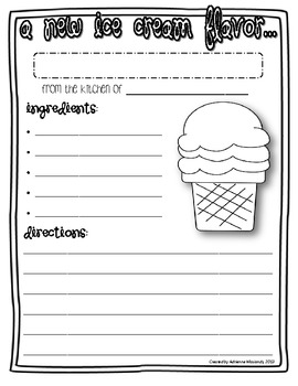 {Freebie!} Invent a New Ice Cream Flavor