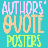 FREEBIE Author's Quote Posters Collection