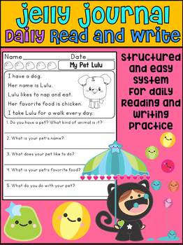 Freebie: Jelly Journal - Daily Journal to Practice Reading and Writing
