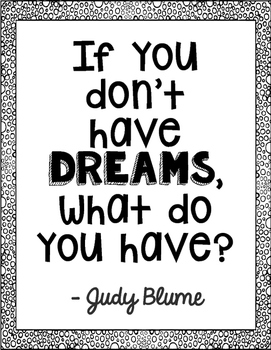 Freebie! Judy Blume Author Quote Art - Tales of a Fourth Grade Nothing