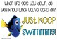 Freebie- Just Keep Swimming Light Box Sign