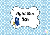 Freebie- Just Keep Swimming Light Box Sign
