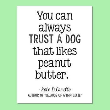 Freebie! Kate DiCamillo, Author of Because of Winn Dixie, Dog Quote Poster