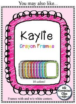 Freebie! Kaylie Frames Line Art