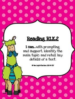 Freebie: Kindergarten Common Core Standards Reading Informational Text