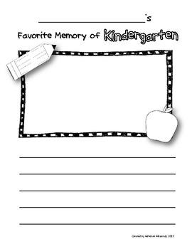 {Freebie!} Kindergarten Memory Book Page
