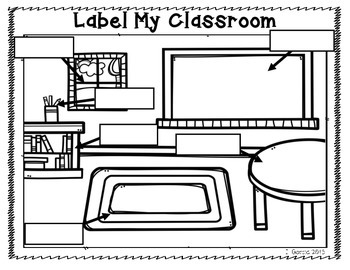 Freebie Label My Classroom