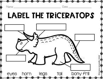 Freebie-Label The Dinosaurs