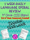 Freebie Language Spiral Review- 3rd Grade