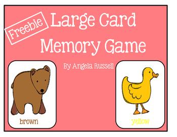 Freebie ~ Large Card Memory Game