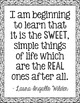 Freebie! Laura Ingalls Wilder Quote Poster, Little House in the Big Woods