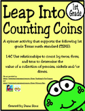 Freebie: Leap Into Counting Coins (1st Grade TEKS 1.4C)