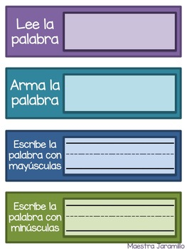 Freebie! Lee, arma, y escribe (Spanish Word Work)