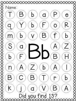 Freebie! Letters A and B Printing, Letter Sounds and Letter Recognition