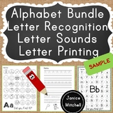 Freebie! Letters A and B Printing, Letter Sounds and Lette