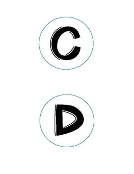 Freebie Letters with Circles