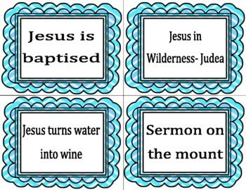 {Freebie} Life of Jesus- Human Timeline Cards