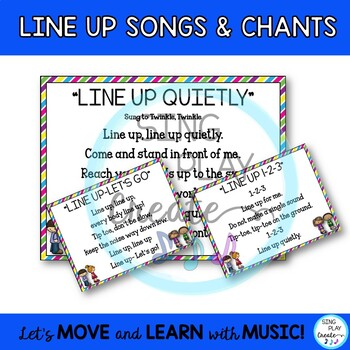 Freebie: Songs and Chants to Line Up and Brain Break Activities