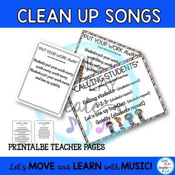 Freebie: Elementary Classroom Songs and Chants-Line Up, Brain Breaks