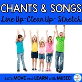 Elementary Classroom Songs and Chants-Line Up, Brain Breaks