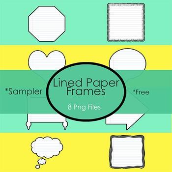 Sampler!  Lined Paper Frames for your Resources!